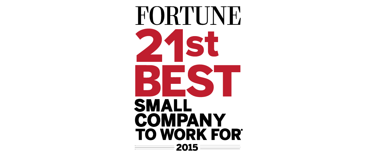 21st Best Small Company to Work For