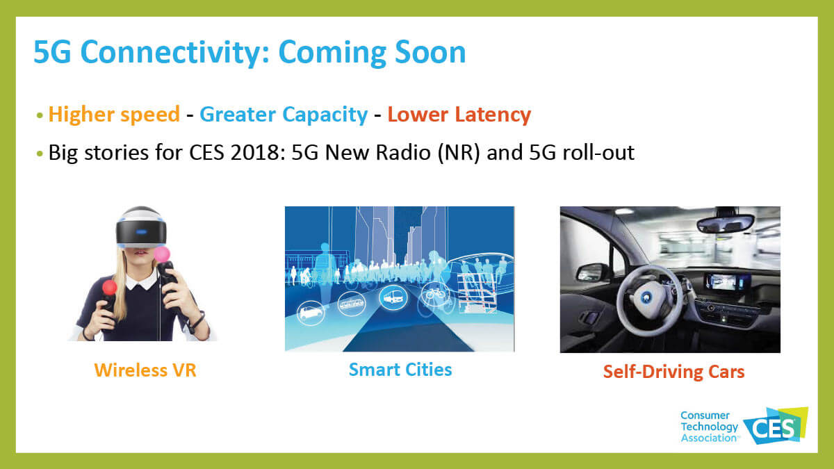 CES 2018 5G Coming Soon