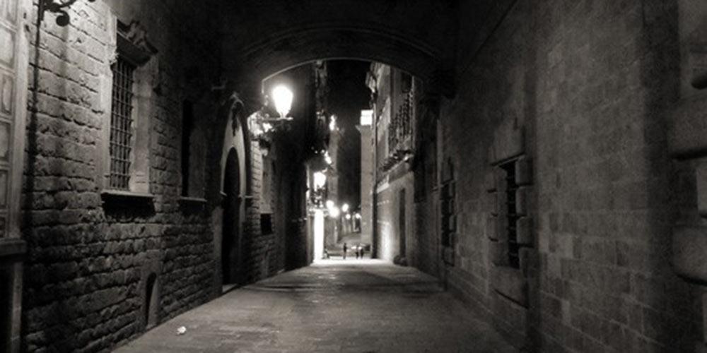 Dark Barcelona Alley