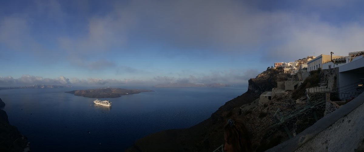 Dusk at Santorini